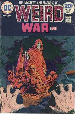 Weird War Tales #24, clawing hands are met by the beckoning finger of death