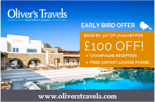 Oliver's travels earlybird offer Family Villa Holiday