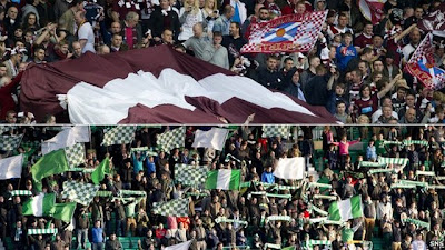 Hearts and Hibernian supporters