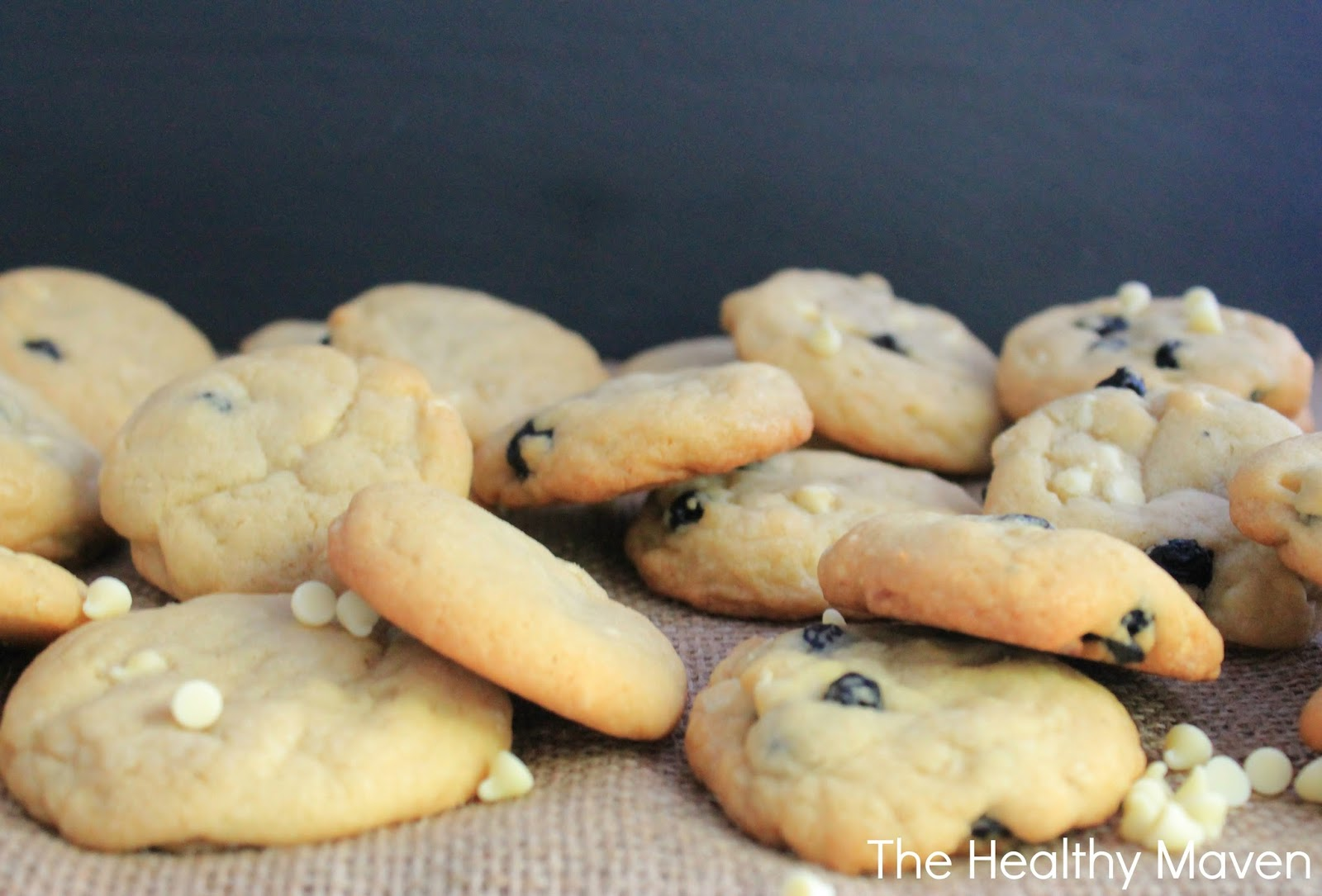 Blueberry White Chocolate Chip Cookies - The Healthy Maven