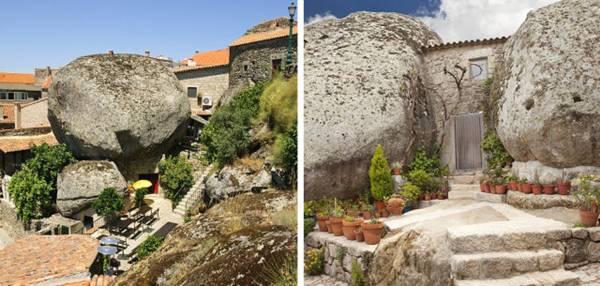 Village of Monsanto, Portugal built between natural boulders