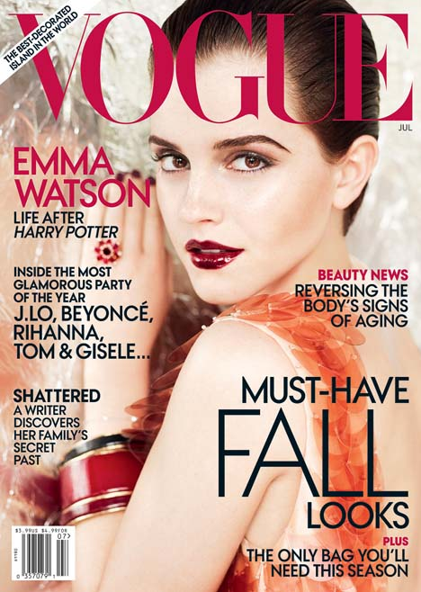 emma watson 2011 vogue cover. VOGUE US July 2011 Cover: Emma