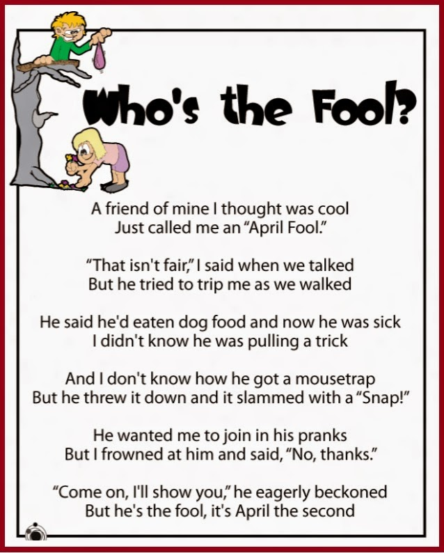 Image of: Famous April Fools Day Funny Poems In Hindi English Kids Poems For All Fools Day Get The Best Latets Poems In Different Language Really Funniest Festival Events Website Festival Events Website April Fools Day Funny Poems In Hindi
