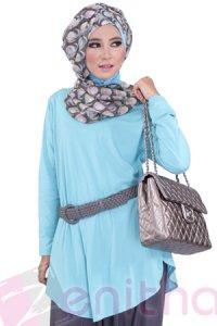 Zenitha Blus Zn115 - Toska (Toko Jilbab dan Busana Muslimah Terbaru)