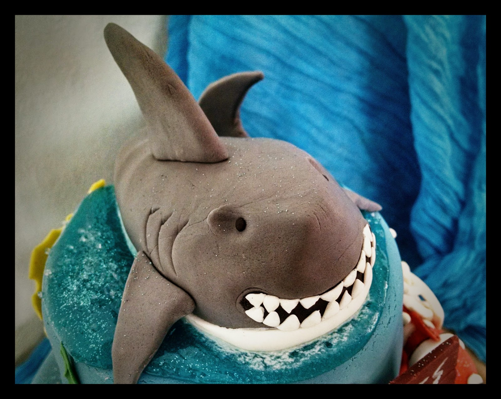 Tiburón de fondant