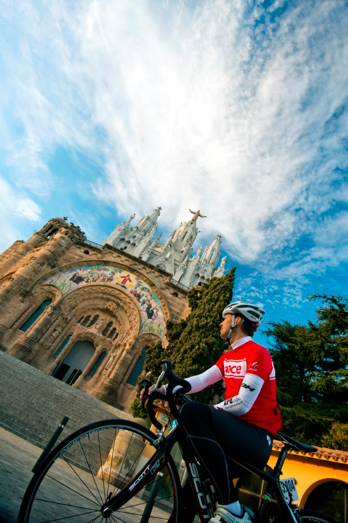 Cycling in Tibidabo, Barcelona