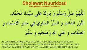 SHOLAWAT NURIDZATI