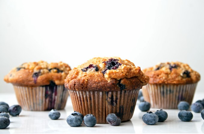 muffins ai mirtilli e mandorle / blueberry muffins with almonds