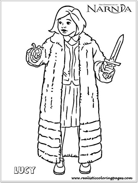 Lucy Chronicles Of Narnia Colouring Pages