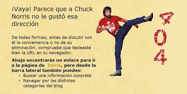 Error Chuck Norris 404