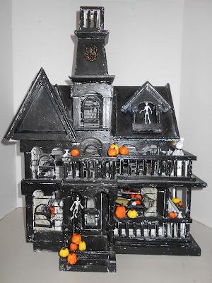 Halloween shopaholic halloween one of a kind haunted dollhouses