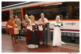 Actores del tren medieval a Sigüenza