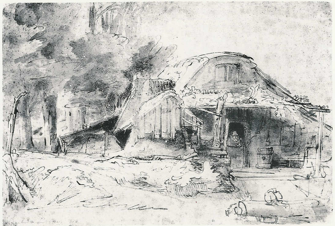Trasversale rembrandt harmenszoon van rijn disegni e for Disegni bianco e nero paesaggi