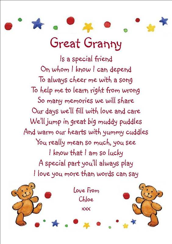 Great Poems For Grandma