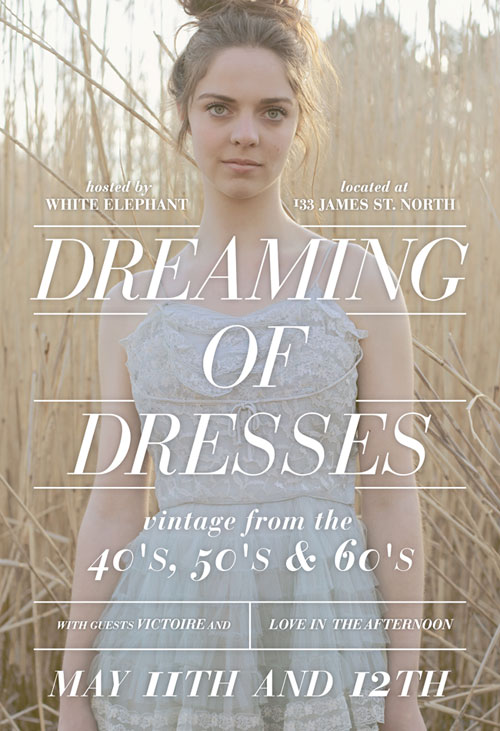 White Elephant, Dreaming of Dresses, Vintage Dress sale, Hamilton, James St. north