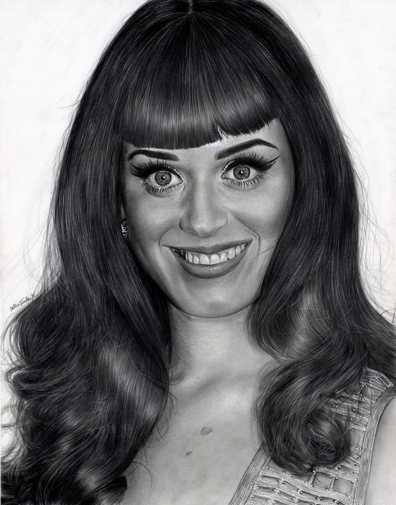 artist portrait drawing - portrait drawings - katty perry draw
