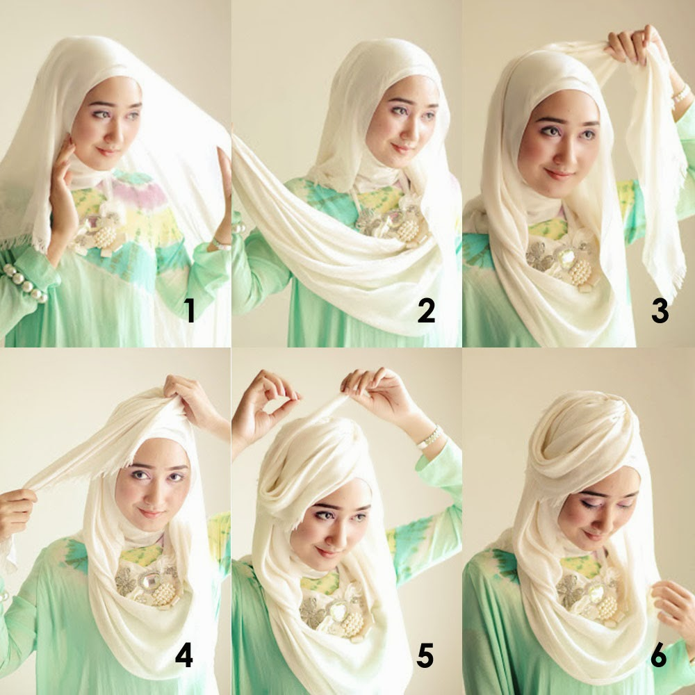 25 Ide Tutorial Hijab Fatin Shidqia Terupdate Tutorial Hijab