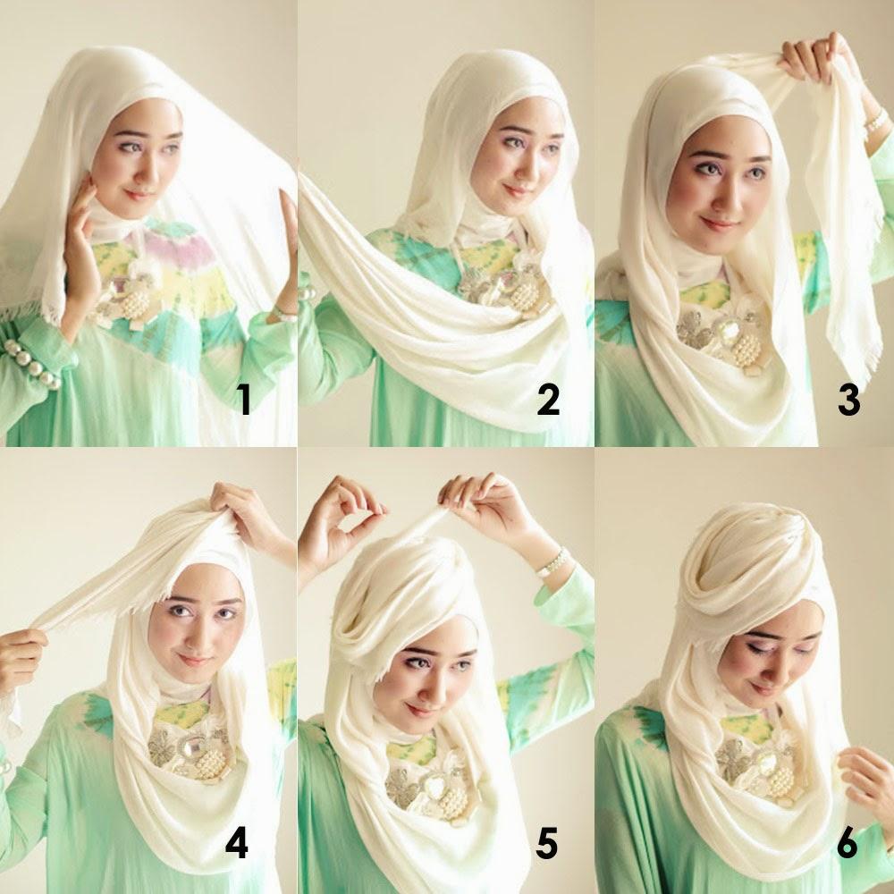 20 Tutorial Hijab Topi Dian Pelangi Tutorial Hijab Terbaru Tahun