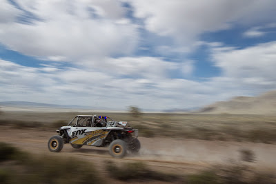 Johnny Angal in his UTV Inc. RZR XP 4 1000