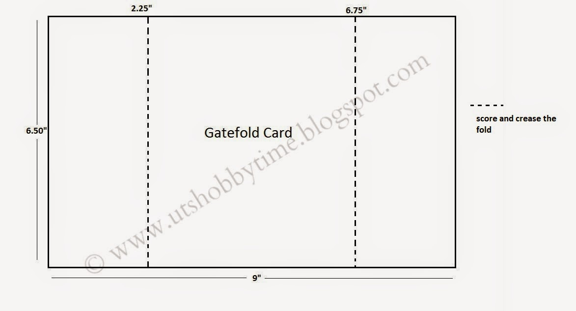 gatefold card measurement / layout /dimensions