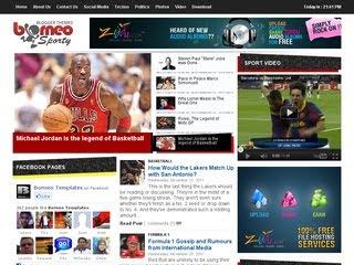 Template para blog de esportes