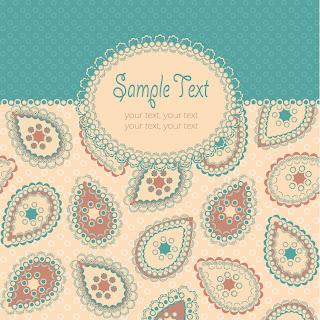 ペイズリー柄の表紙見本 beautiful pattern background イラスト素材