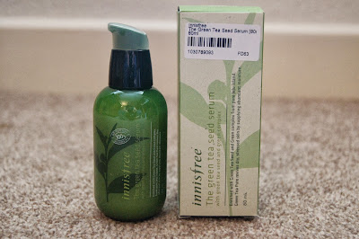 Korean asian skincare haul Innisfree Green tea seed serum