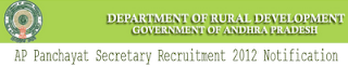 AP Panchayat Secretary Recruitment 2012