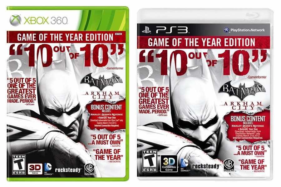 batman arkham city game of the year