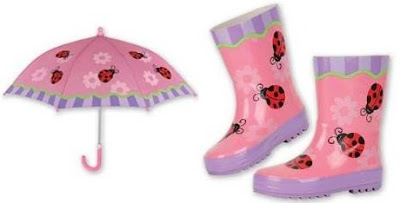 Stephen Joseph Ladybug Umbrella And Rain Boots