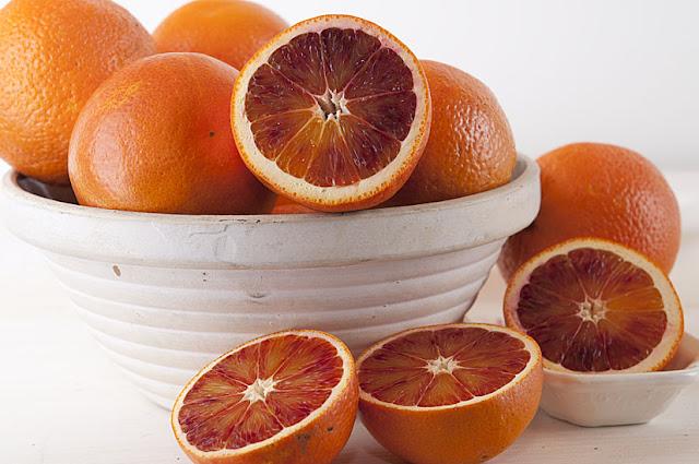 Салат из кеты и сицилийских апельсинов