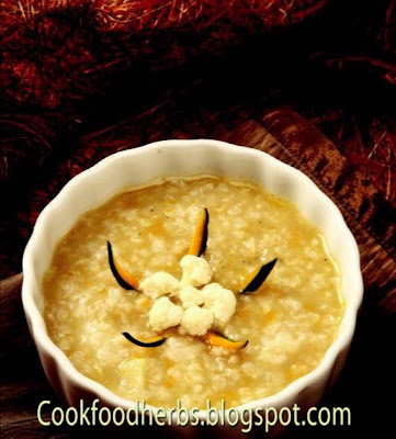 Cauliflower sweet pumpkin porridge