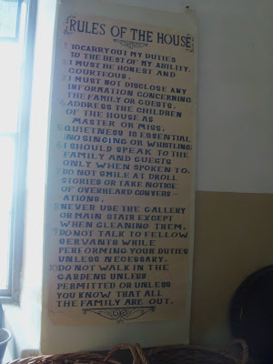 rules of the house, Culzean Castle, Ayrshire