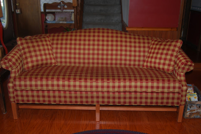 I Love This Couch Can T Stop Looking At It The Fabric Is In Steiger Check Red Did Tell You That My Checked