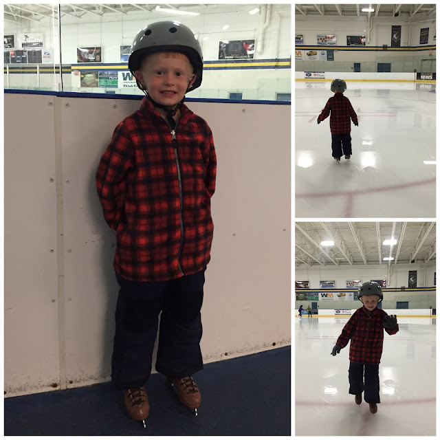 Porter Learning to Ice Skate