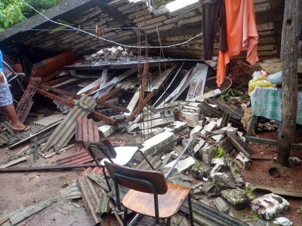 Em Igrapiúna, casas foram destruídas e famílias estão desabrigadas (Foto: William Boy / Jornal Informe Ativo)