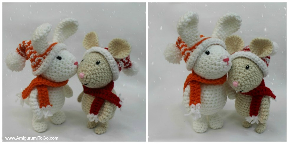 All Free Amigurumi Patterns : Winter Bunny Free Amigurumi Pattern ~ Amigurumi To Go