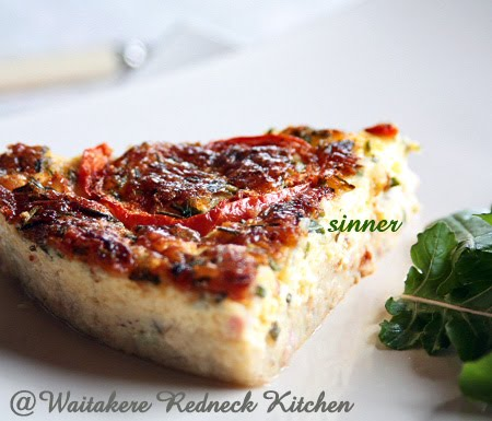 Crustless Ham & Salmon Quiche