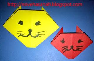 origami kucing untuk anak TK