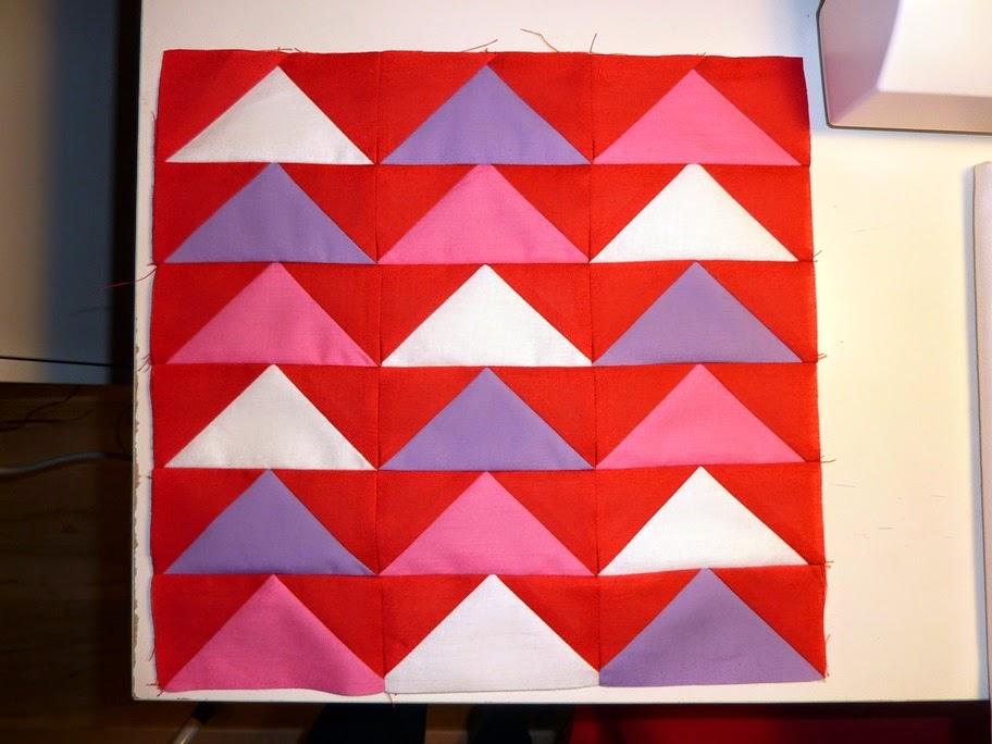 """Mój pierwszy patchwork – """"lecące gęsi"""""""