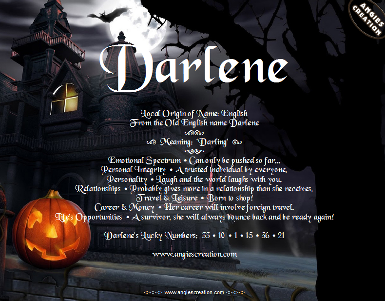 The meaning of the name - Darlene