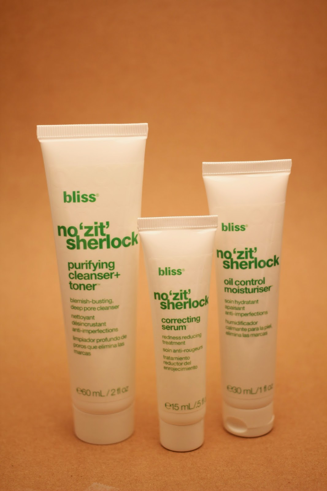 bliss not zit sherlock, review, skincare product, no zit sherlock kit,