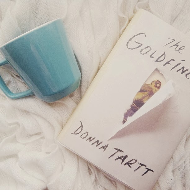The Goldfinch book, coffee cup, Target
