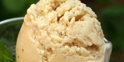 recetas postres helado de mani y coco