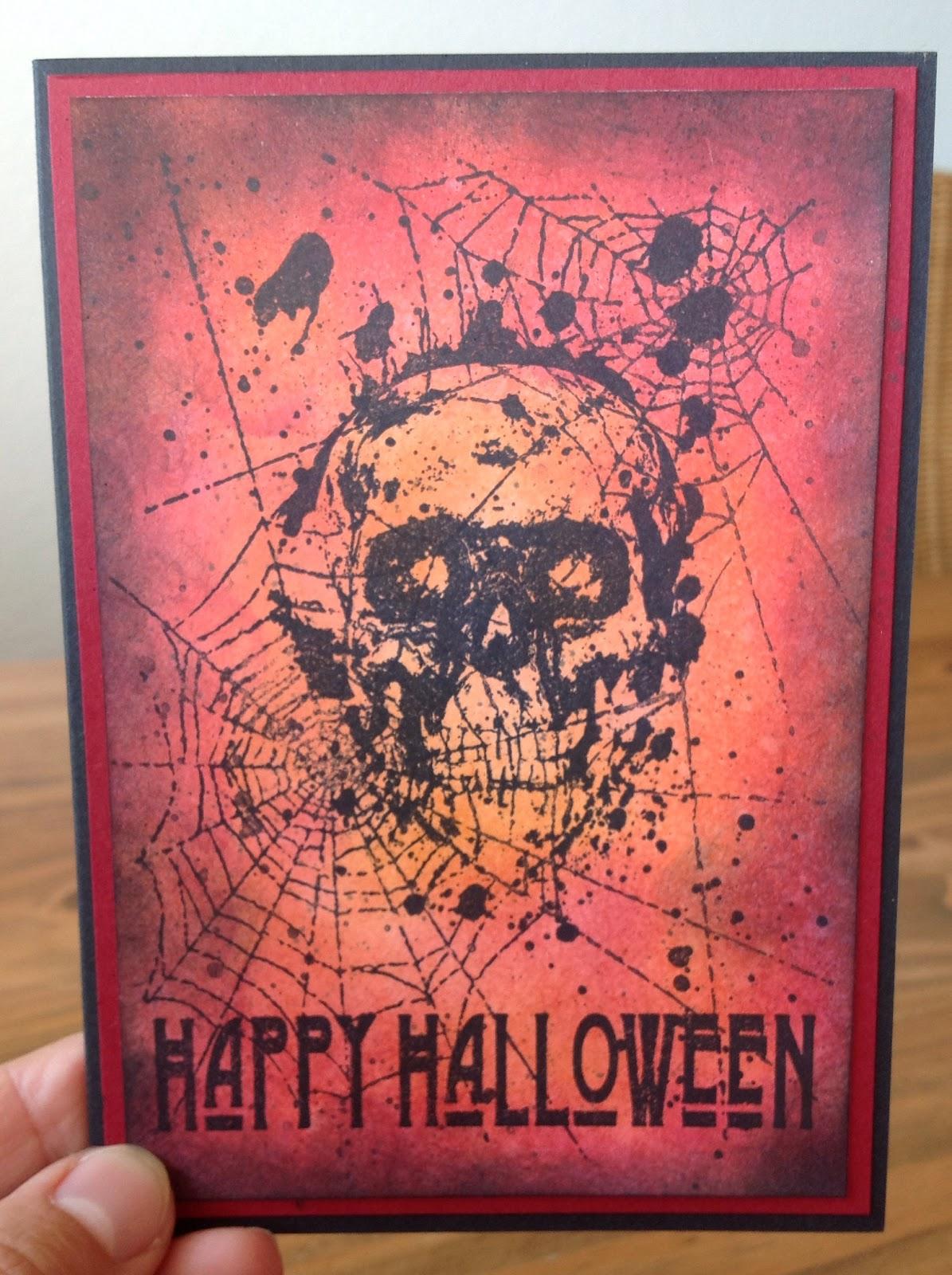 Halloweenkarten mit La Blanche und Tim Holtz