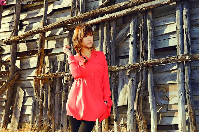 1 Nam Eun Ju in Red-very cute asian girl-girlcute4u.blogspot.com