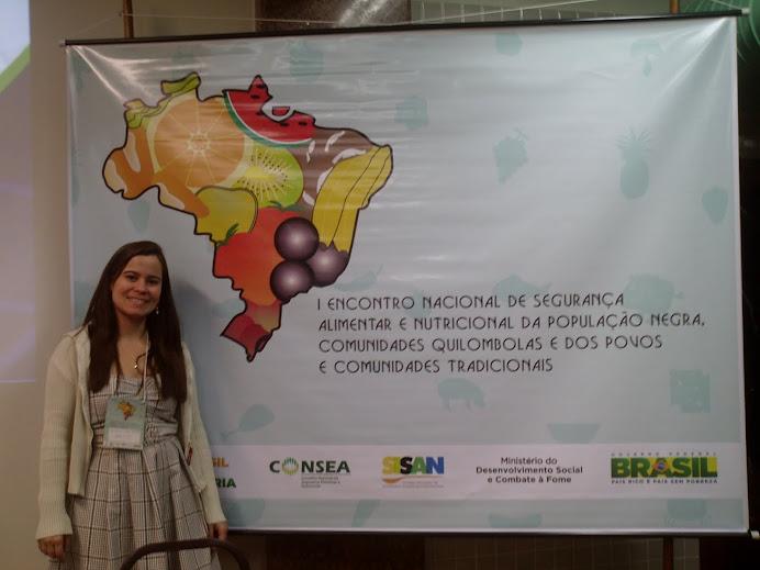 Laydiane - GESAN no I Encontro Nacional de SAN de População Negra e PCT - Guarapari, set 2011)