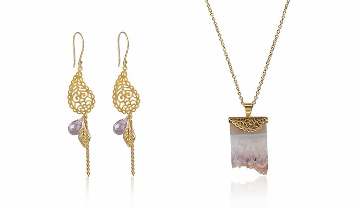 Ananda Soul Creations jewelry - In love with life earrings and Love of my soul necklace