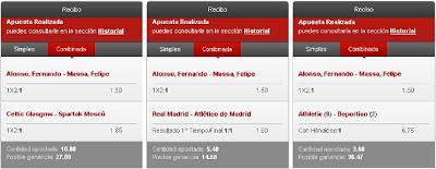 Apuestas Deportivas Rosberg Formula 1-GP Brasil+Fútbol-Liga BBVA/Champions League