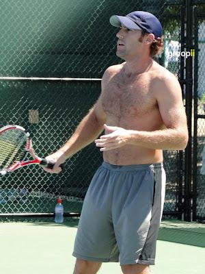 Robby Ginepri Shirtless at Cincinnati Open 2010